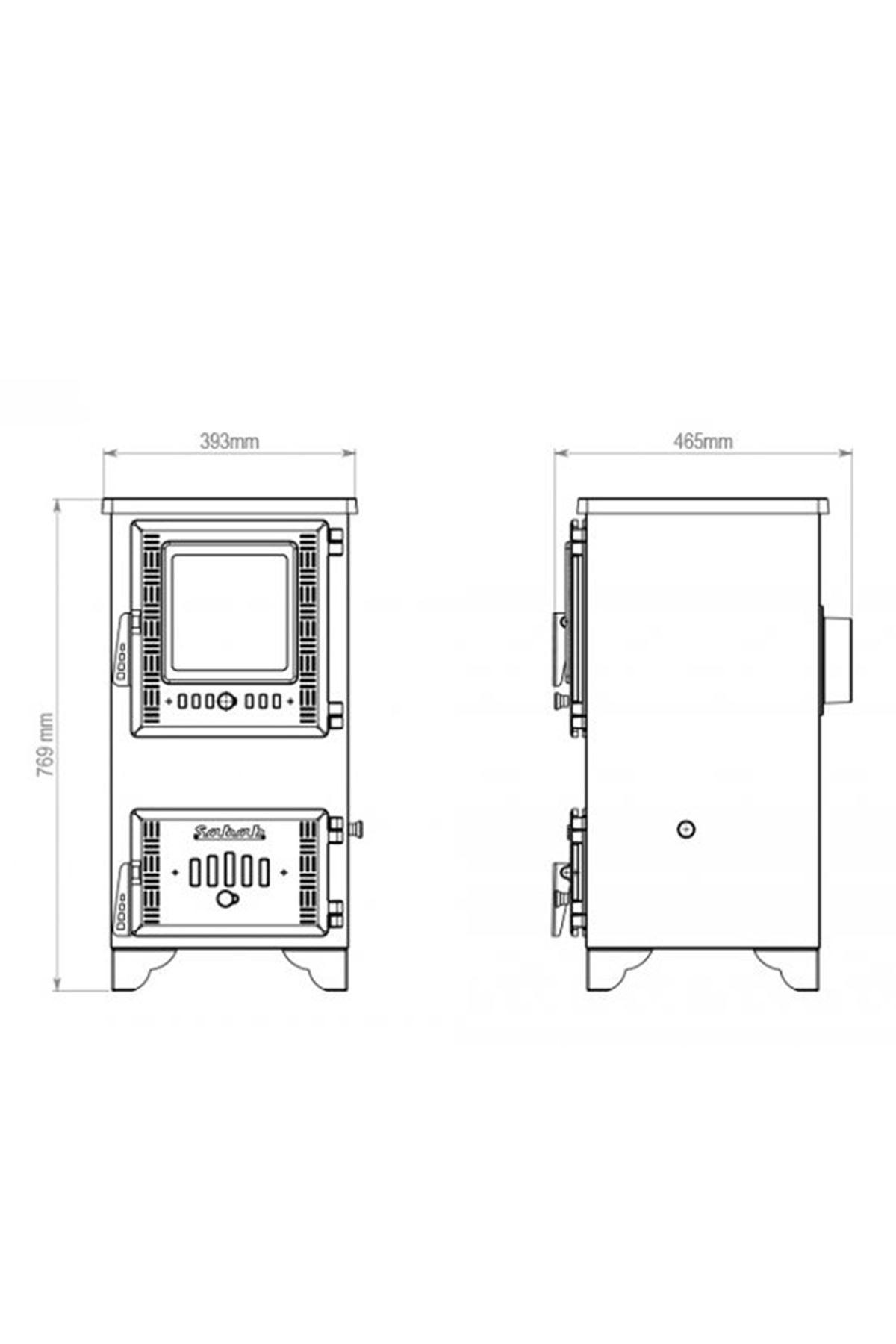 Sabah S102 Dik Mini Şömine Soba